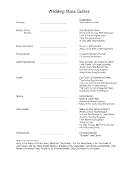 wedding program outline template 7 best images of wedding ceremony program outline sle wedding