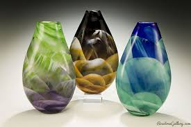Colored Crystal Vases Rosetree Blown Glass