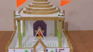 decorate mandir at home how to make a beautiful temple at home ganesh mandir making