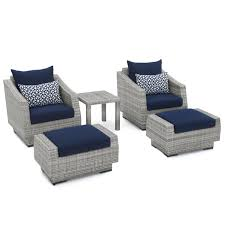 navy blue chair and ottoman cannes 5pc club chair and ottoman set navy blue rst brands