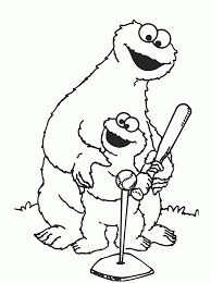 elmo and friends coloring pages coloring home