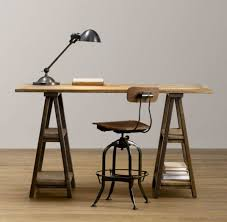 sawhorse desk ballard designs sawhorse table for stronger