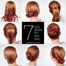 dry wave hairdo get ready fast with 7 easy hairstyle tutorials for wet hair hair