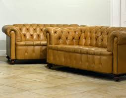 Vintage Leather Chesterfield Sofa Pair Of Vintage Leather Chesterfield Sofas With Rolled Arms And