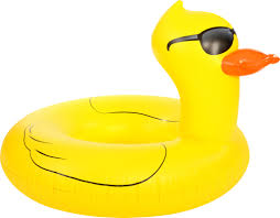rubber duck float with sunglasses mr toy