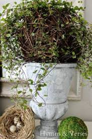 Mantel Topiaries - angel vine fountain topiary wire trellis plants and gardens