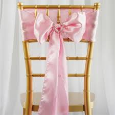 chair sashes for weddings satin chair sash 6x106 pink 5pcs efavormart