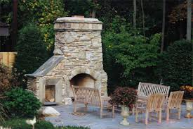 Outdoor Fieldstone Fireplace - outdoor fireplace box home decorating interior design bath