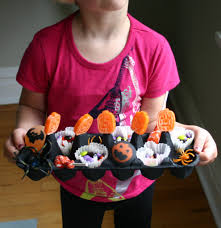 for halloween fun try making an egg carton candy tray family