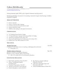 Kindergarten Teacher Resume Example by Sample Resume For Kindergarten Teacher Sample Teacher Resumes