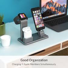 How To Make A Charging Station Amazon Com Yofew Apple Iwatch Stand Aluminum 4 In 1 Apple Watch