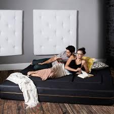 King Sleeper Sofa Bed by Zipline Denim Convertible Sleeper Sofa 3 Ottomans Black