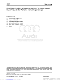 audi a8 2003 d3 2 g electrical system workshop manual
