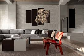 amazon com 4 panel wall art painting roar lion pictures prints on