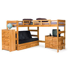 Bunk Bed With Futon On Bottom Chelsea Home Furniture 3662001 S L Shaped Twin Futon Loft Bed With
