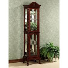 cherry corner curio cabinet elegant ideas design for lighted curio cabinet lighted corner curio