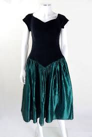 80s Prom Dress Size 12 1980s Black And Green Prom Dress Vintage Party Dresses Vintage
