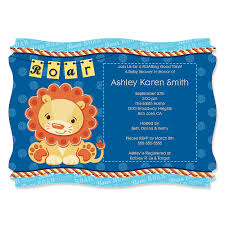 Baby Boy Baby Shower Invites Lion Boy Personalized Baby Shower Invitations