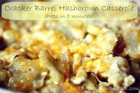cracker barrel hash brown casserole recipe 5 minute prep