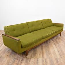 Midcentury Modern Sofa - this mid century modern sofa is upholstered in a durable woven