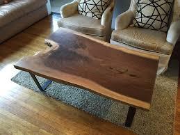 Slab Coffee Table Black Walnut Slab Coffee Table Ambrose Woodworks