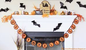 around the watts house halloween mantel decor