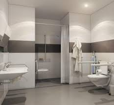 Barrier Free Bathroom Design by Trough Shower Drains Hospital Shower Drain Solutions