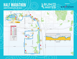 Marathon Route Map by Run Run For Water