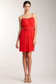 calvin klein crisscross back straps dress with self tie hautelook