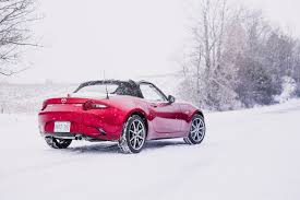 nissan canada winter tires winter driving a 2017 mazda mx 5 gt with snow tires canadian