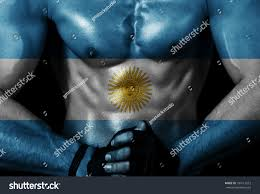 Argentina Flag Photo Argentina Flag On Sporty Male Body Stock Photo 184113512