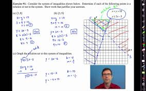 common core algebra i unit 5 lesson 7 solving systems of inequalities you