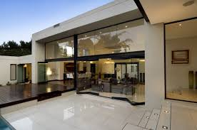 white nuance modern house cad with wooden floor and futuristic