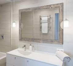 Wall Mirror For Bathroom August Grove Antique Weathered Grey Framed Wall Mirror Reviews