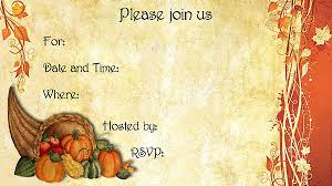 thanksgiving invitations free templates cornucopia thanksgiving