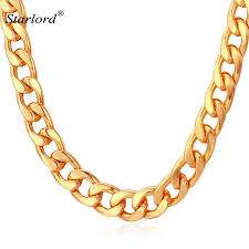 necklace silver gold images Miami cuban link chain necklace 7mm silver gold color curb chain jpg