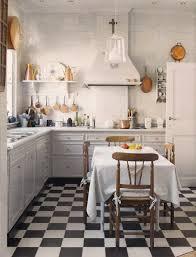 carrelage cuisine noir et blanc lino noir et blanc damier damier noir et blanc pose droite design