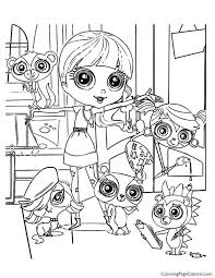 littlest pet shop printable coloring pages minka pictures