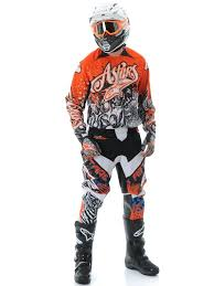 motocross gear combo alpinestars charger motocross kit combo orange u2013 at motocross