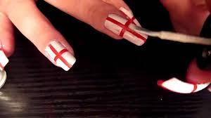 Englang Flag England Flag Nail Art Tutorial Fifa World Cup 2010 Very Easy