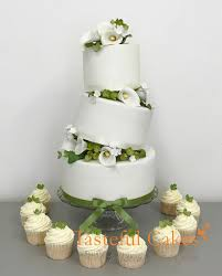 wedding cake and cupcakes cakes by georgiou floral green wedding