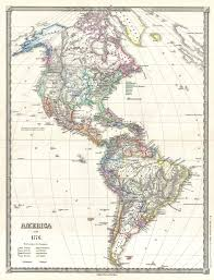 the americas map file 1855 spruner map of the americas since 1776 geographicus