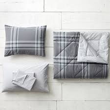 Twin Plaid Comforter Twin Plaid Bedding Pbteen