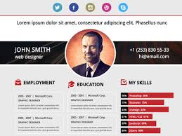 Web Design Resume Template Personal Vcard Cvresume Templates Social Media And Tech Blog 30