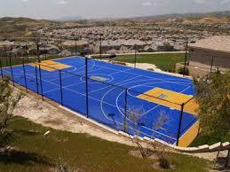 Backyard Pool And Basketball Court Backyard Courts Gallery Sport Court