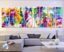 world of wonders home decor 30x 96 8 panels art canvas print wonders world
