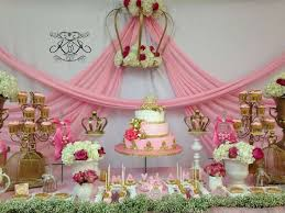 Pink And Gold Dessert Table by Princess Baby Shower Party Ideas Gold Dessert Table Gold