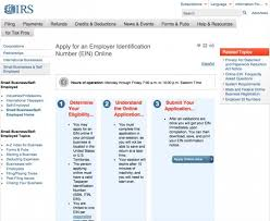 how to apply for an employer tax identification number ein