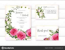 Beautiful Decoration Element Set Of Flower Pink Rose Green Leaves Wreath Wedding Ornament