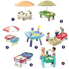 tall sand and water table sand table toys inch tall activity table lid step 2 sand table toys